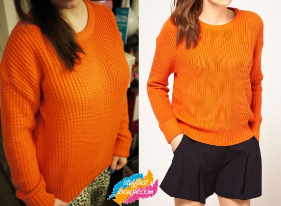 Orange Vero Moda Fisherman Knit Sweater ASOS