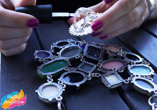 how to care for costume jewellery - nail polish!