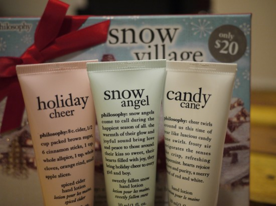 Philosophy Snow Village Christmas hand cream set