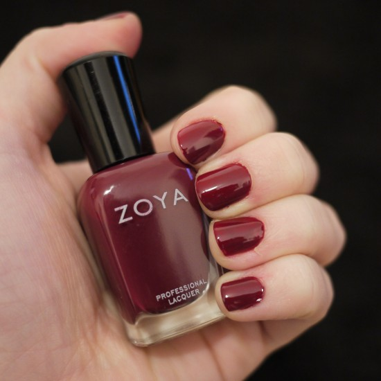 Zoya Stacy oxblood nail polish