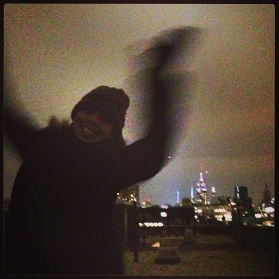 New York NYE on our roof Instagram